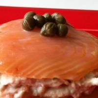 Millefeuille de saumon fumé